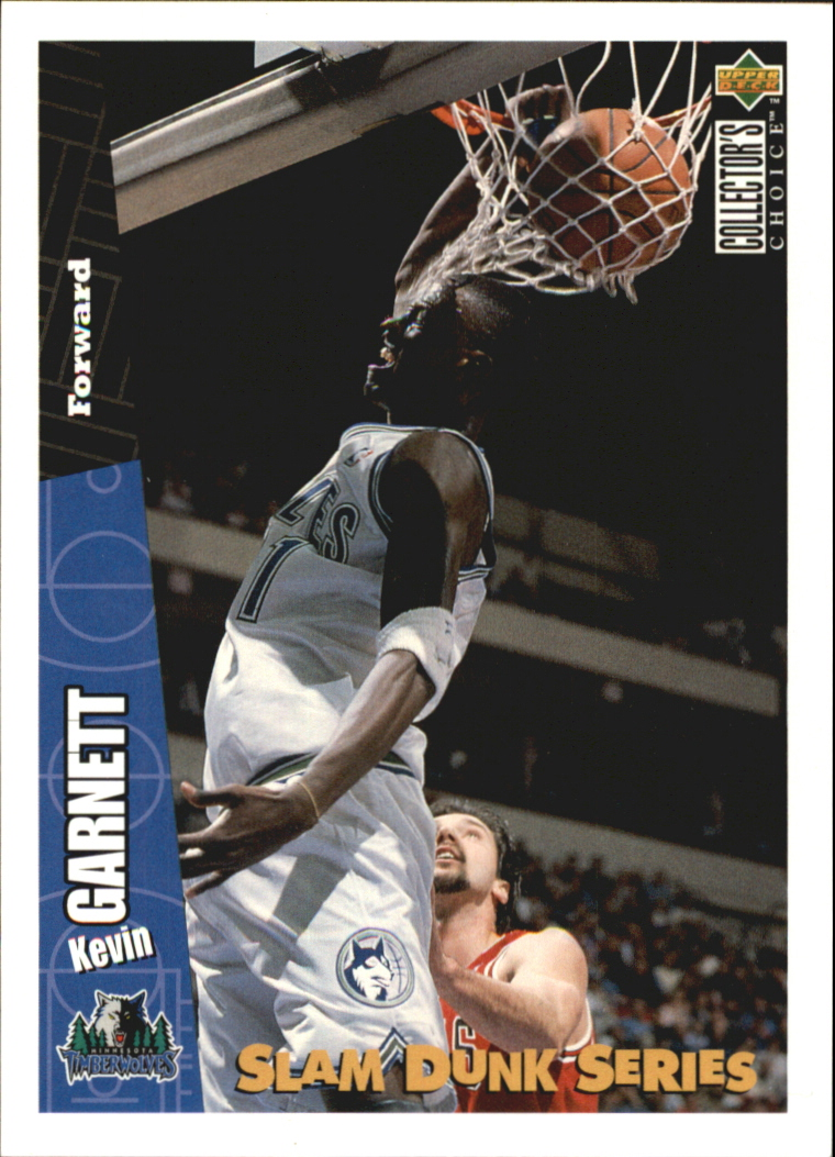 1996 Upper Deck Nestle Slam Dunk #21 Kevin Garnett