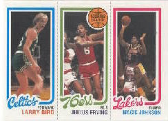 1996 Topps Stars Reprints #8 Larry Bird/Julius Erving/Magic Johnson