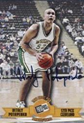 1996 Press Pass Autographs #14 Vitaly Potapenko