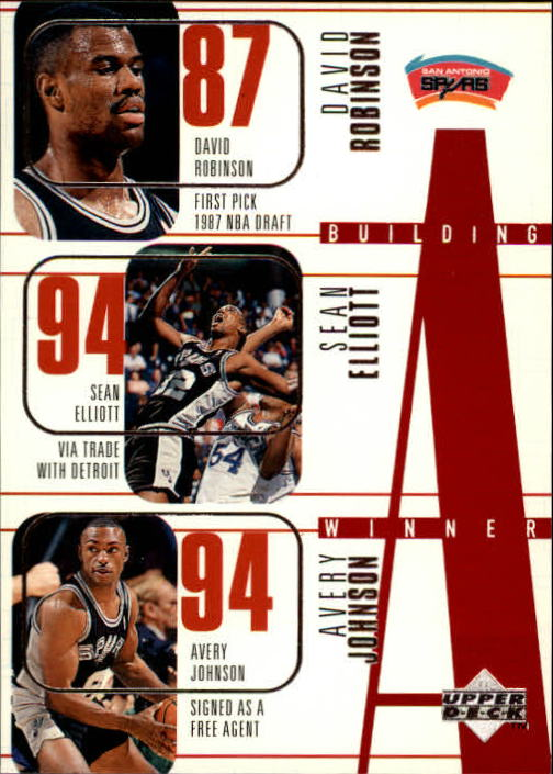 1996-97 Upper Deck #159 David Robinson/Sean Elliott/Avery Johnson/Vinny Del Negro/Chuck Person
