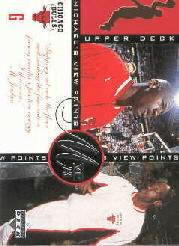 1996-97 Upper Deck Jordan's Viewpoints #VP2 Michael Jordan/MJ on entering the arena