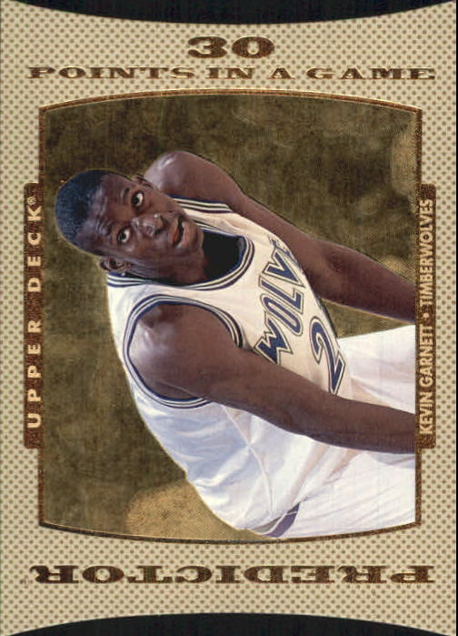 1996-97 Upper Deck Predictor Scoring 2 #P10 Kevin Garnett 30 PTS. W