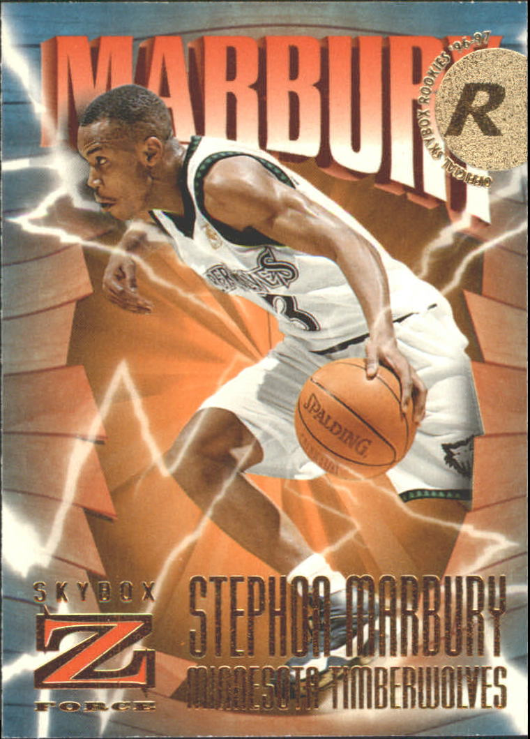 1996-97 Z-Force #156 Stephon Marbury RC