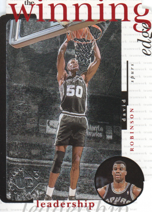 1996-97 UD3 The Winning Edge #W15 David Robinson