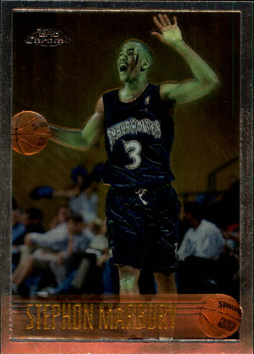 1996-97 Topps Chrome #177 Stephon Marbury RC