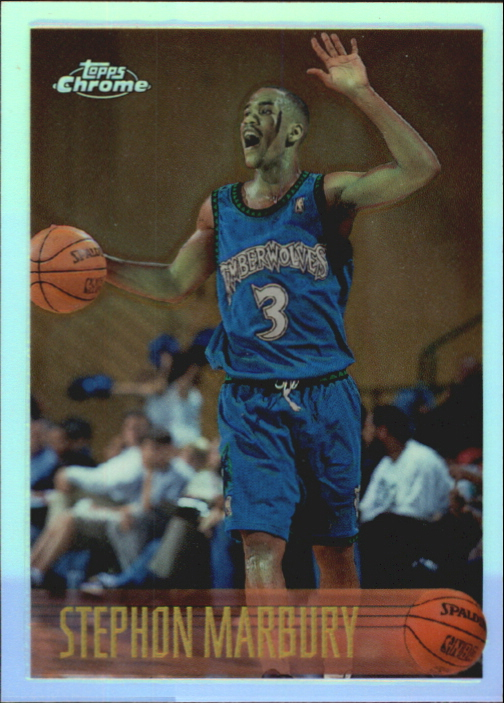 1996-97 Topps Chrome Refractors #177 Stephon Marbury