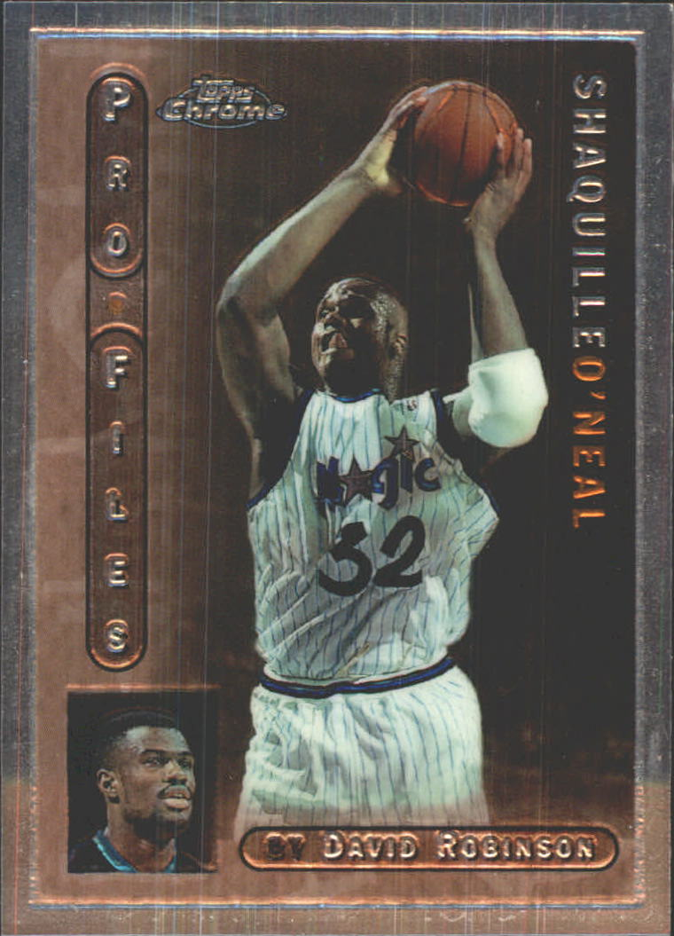 1996-97 Topps Chrome Pro Files #PF7 Shaquille O'Neal