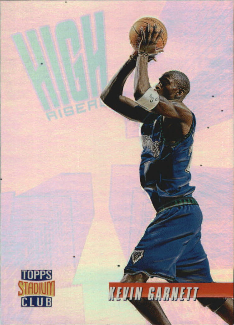 1996-97 Stadium Club High Risers #HR6 Kevin Garnett