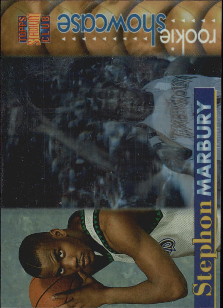 1996-97 Stadium Club Rookie Showcase #RS3 Stephon Marbury