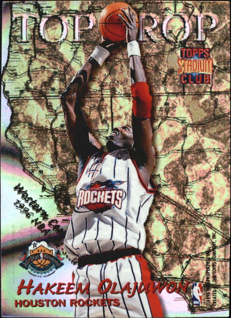1996-97 Stadium Club Top Crop #TC1 Shaquille O'Neal/Hakeem Olajuwon