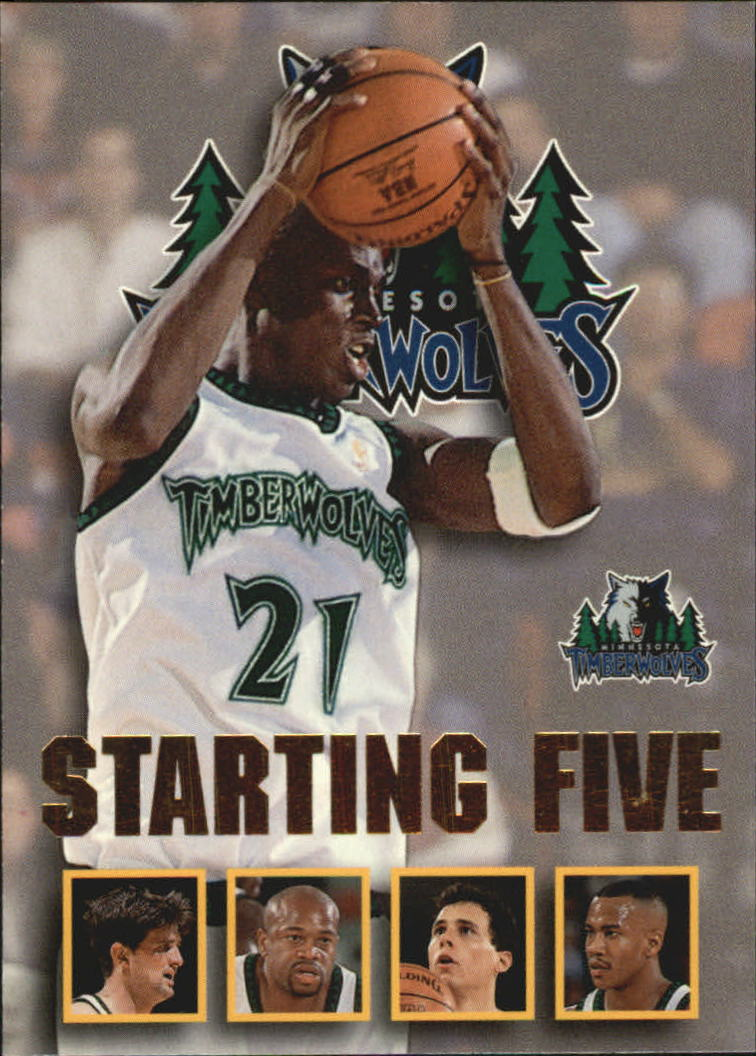 1996-97 Hoops Starting Five #16 Kevin Garnett/Tom Gugliotta/Stephon Marbury/Cherokee Parks/James Robinson/Minnesota Timberwolves