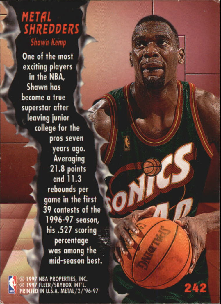 1996-97 Metal #242 Shawn Kemp MS
