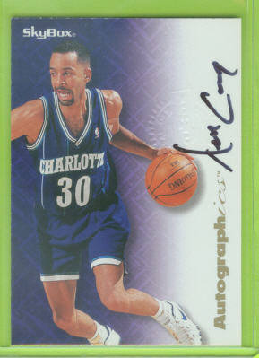1996-97 SkyBox Premium Autographics #14 Dell Curry