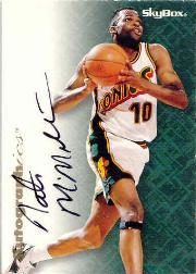 1996-97 SkyBox Premium Autographics #50 Nate McMillan