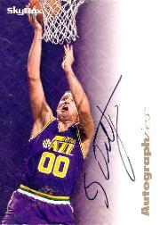 1996-97 SkyBox Premium Autographics #62 Greg Ostertag