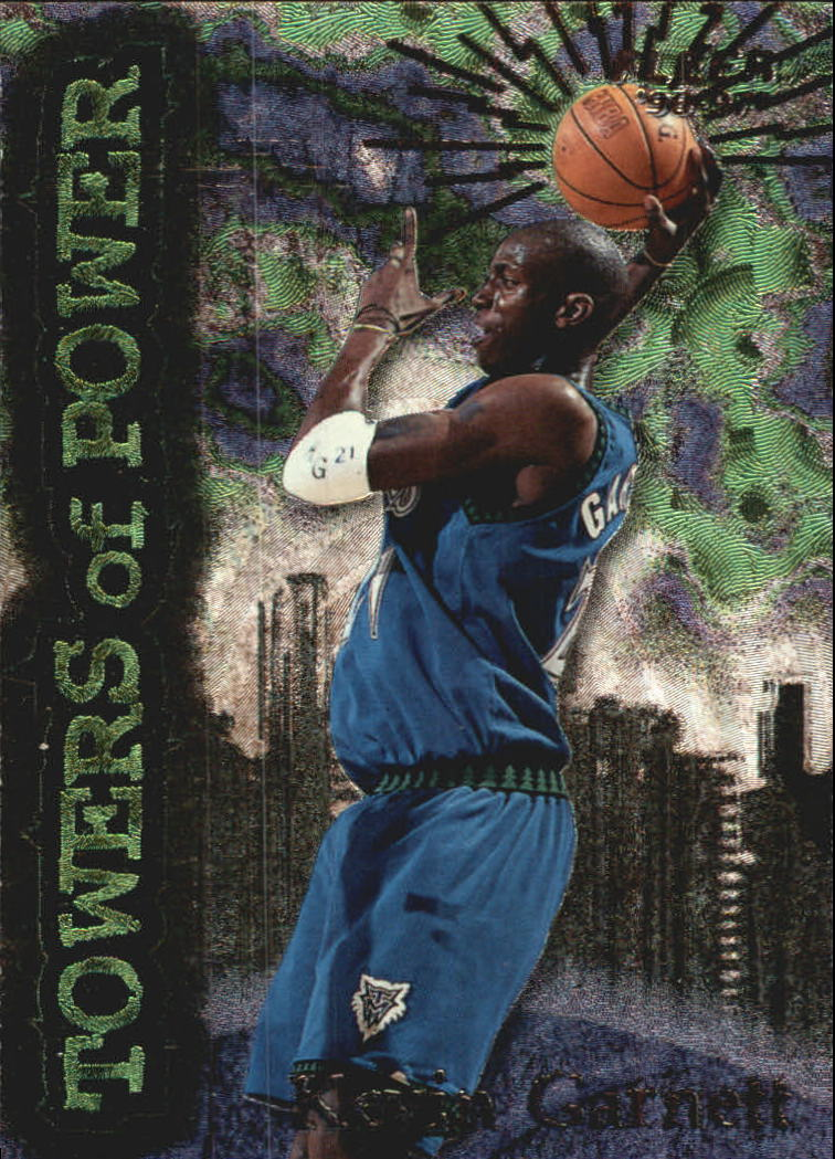 1996-97 Fleer Towers of Power #4 Kevin Garnett