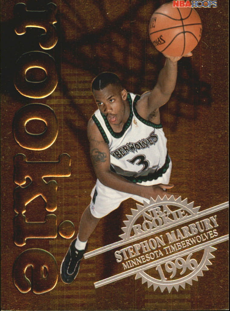 1996-97 Hoops Rookies #17 Stephon Marbury