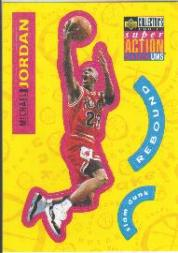 1996-97 Collector's Choice Stick-Ums 1 #S30 Michael Jordan front image