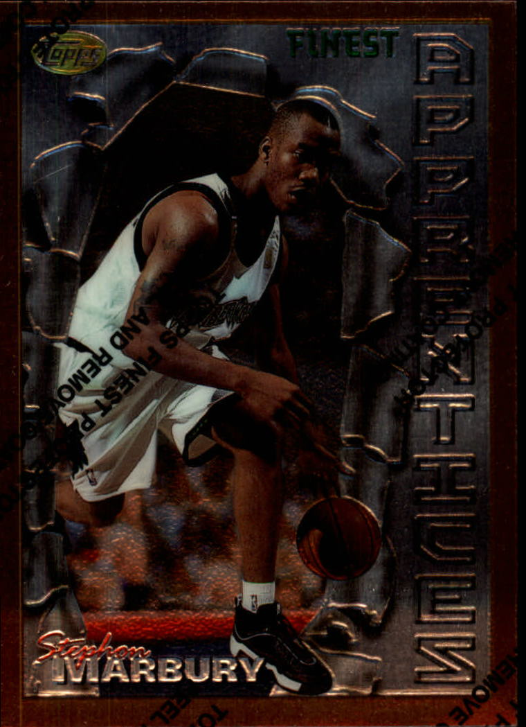 1996-97 Finest #62 Stephon Marbury B RC