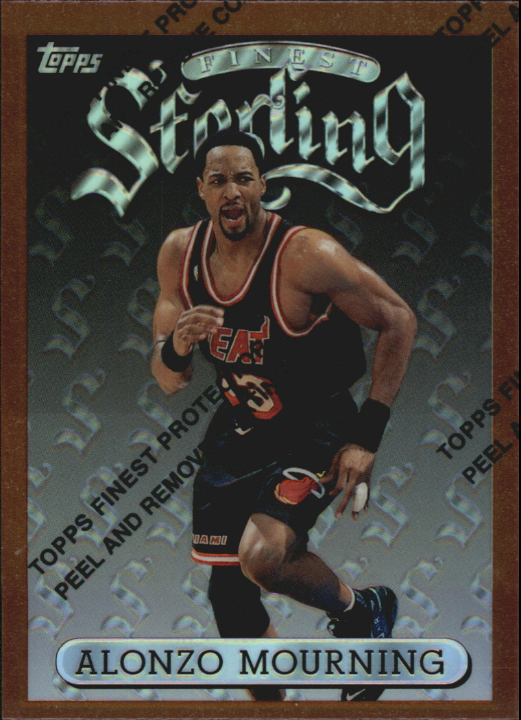 1996-97 Finest Refractors #78 Alonzo Mourning B