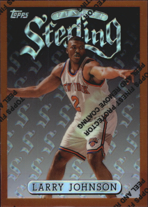1996-97 Finest Refractors #231 Larry Johnson B