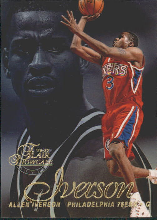 1996-97 Flair Showcase Row 2 #3 Allen Iverson RC