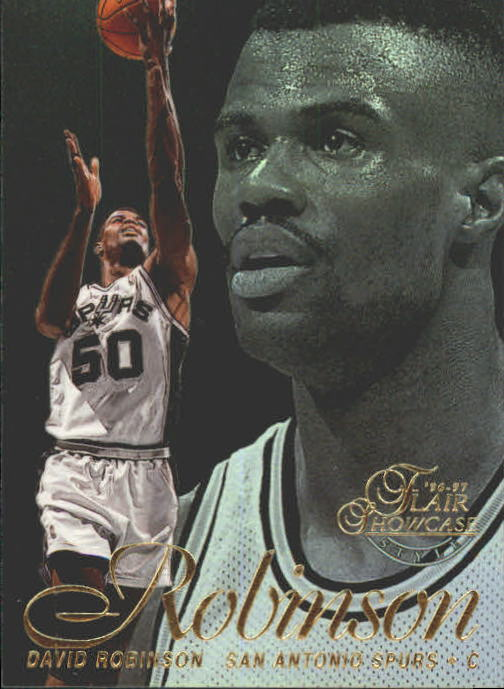 1996-97 Flair Showcase Row 2 #6 David Robinson