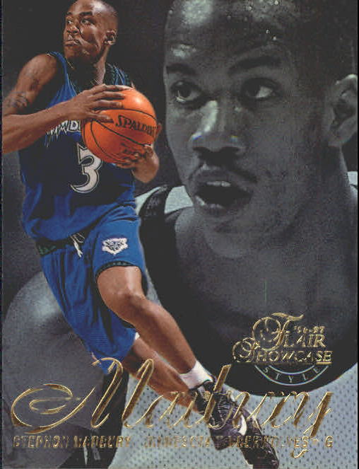 1996-97 Flair Showcase Row 2 #11 Stephon Marbury RC