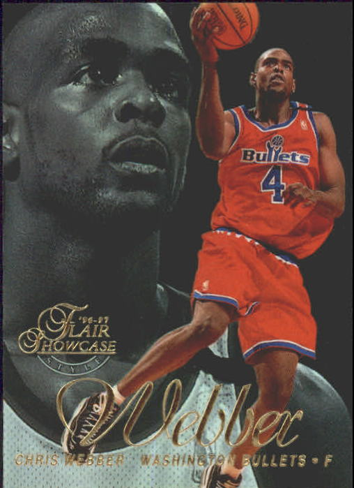 1996-97 Flair Showcase Row 2 #25 Chris Webber