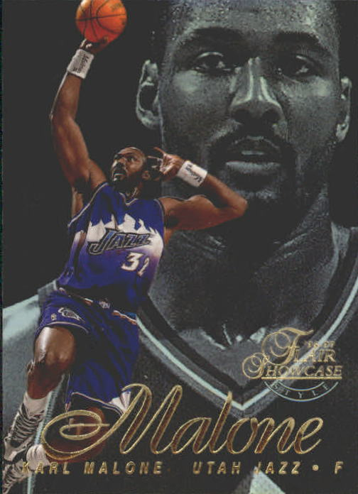 1996-97 Flair Showcase Row 2 #28 Karl Malone