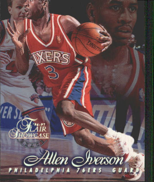 1996-97 Flair Showcase Row 1 #3 Allen Iverson