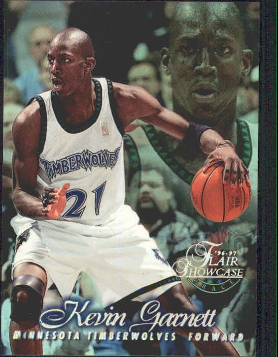 1996-97 Flair Showcase Row 1 #21 Kevin Garnett