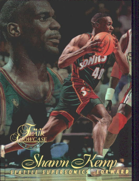 1996-97 Flair Showcase Row 1 #30 Shawn Kemp