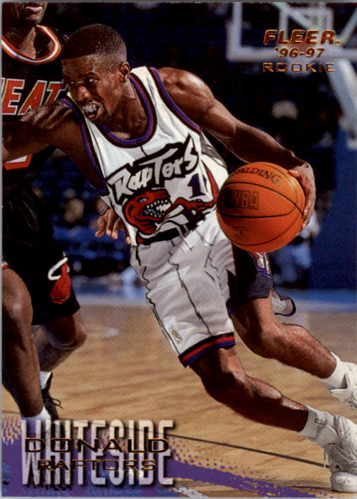 1996-97 Fleer #256 Donald Whiteside RC