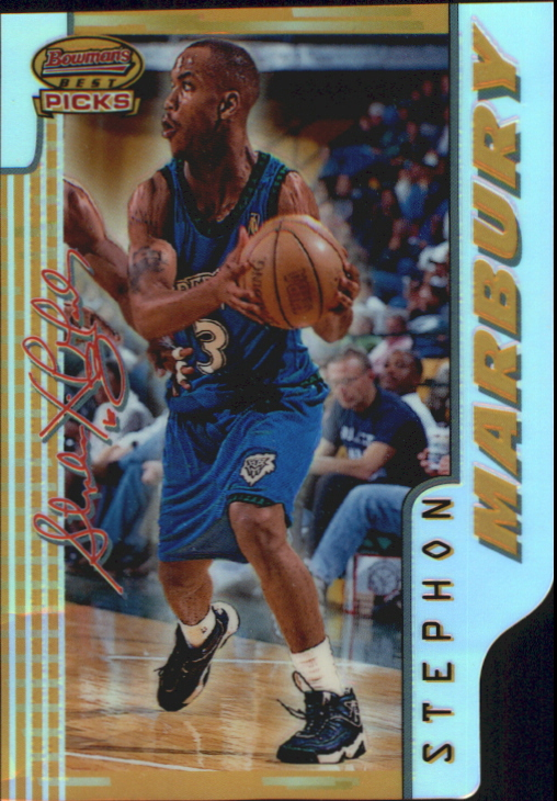1996-97 Bowman's Best Picks Refractors #BP1 Stephon Marbury