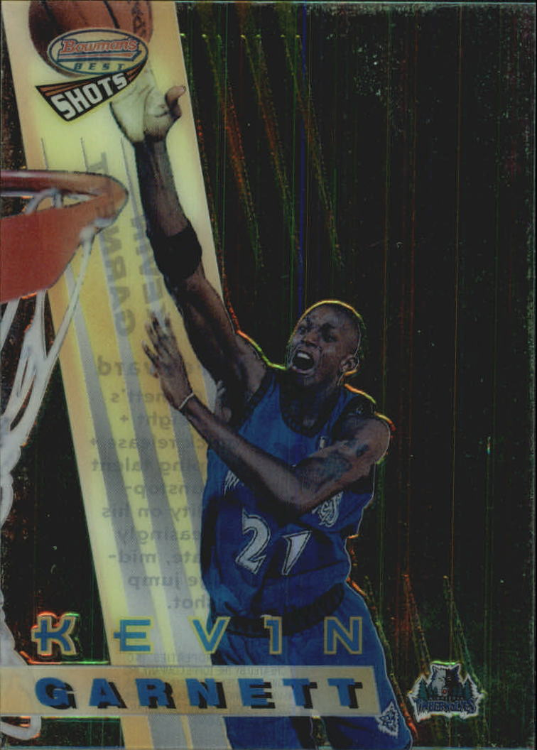 1996-97 Bowman's Best Shots #BS5 Kevin Garnett