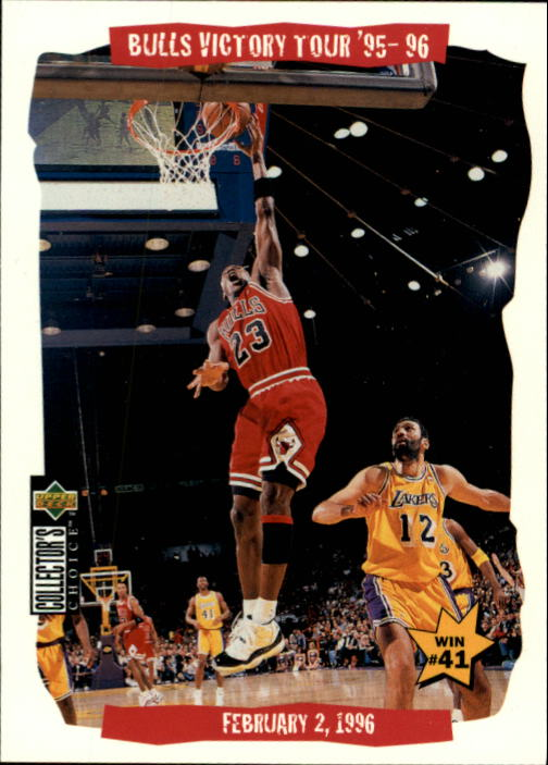 1996-97 Collector's Choice #25 Michael Jordan/Vlade Divac VT