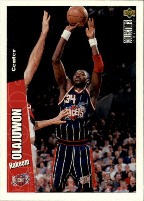 1996-97 Collector's Choice #58 Hakeem Olajuwon