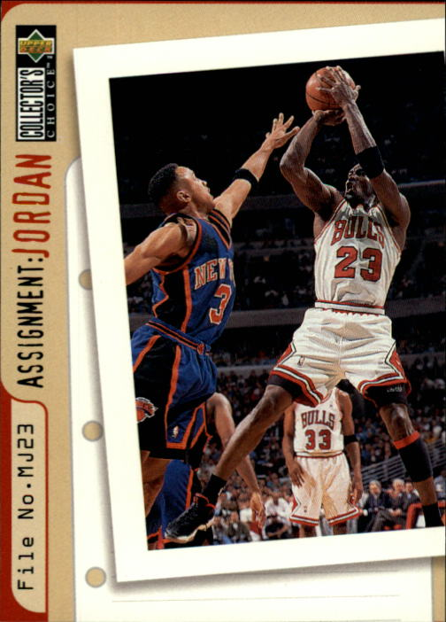 1996-97 Collector's Choice #364 John Starks/Michael Jordan AJ