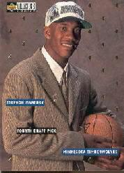 1996-97 Collector's Choice Draft Trade #DR4 Stephon Marbury
