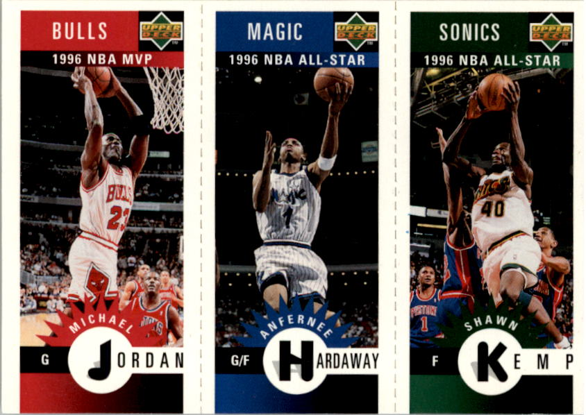 1996-97 Collector's Choice Mini-Cards #M78 Michael Jordan/Anfernee Hardaway/Shawn Kemp