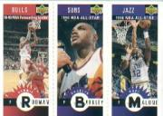 1996-97 Collector's Choice Mini-Cards #M83 Dennis Rodman/Charles Barkley/Karl Malone