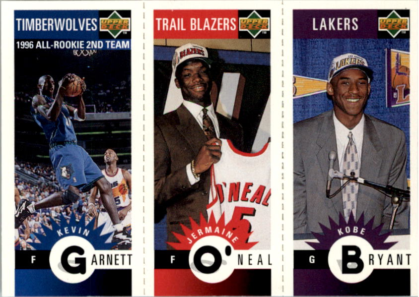 1996-97 Collector's Choice Mini-Cards #M129 Kobe Bryant/Jermaine O'Neal/Kevin Garnett