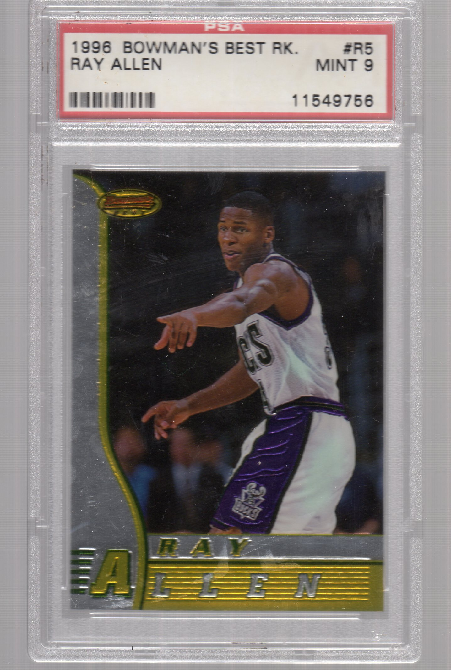 1996-97 Bowman's Best #R5 Ray Allen RC