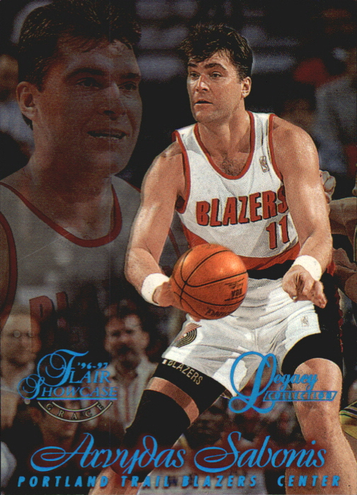 1996-97 Flair Showcase Legacy Collection Row 1 #36 Arvydas Sabonis
