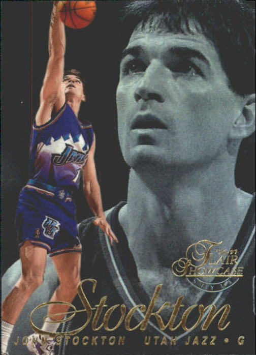 1996-97 Flair Showcase Legacy Collection Row 2 #12 John Stockton
