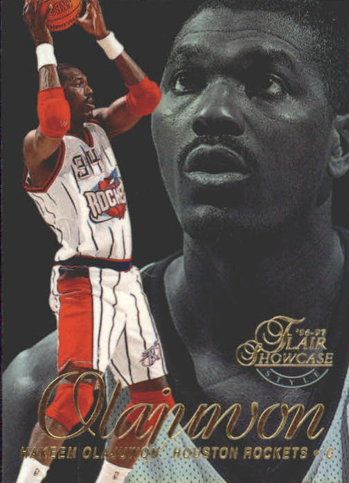 1996-97 Flair Showcase Legacy Collection Row 2 #14 Hakeem Olajuwon