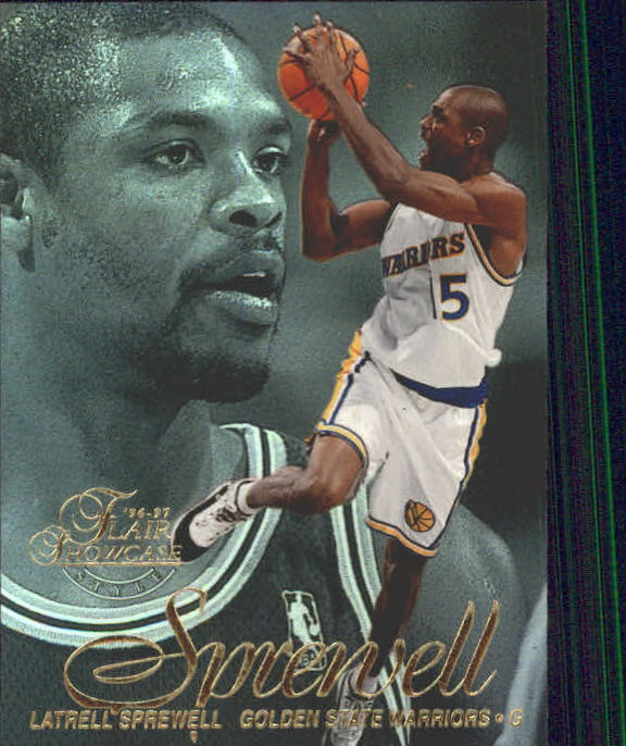 1996-97 Flair Showcase Legacy Collection Row 2 #41 Latrell Sprewell