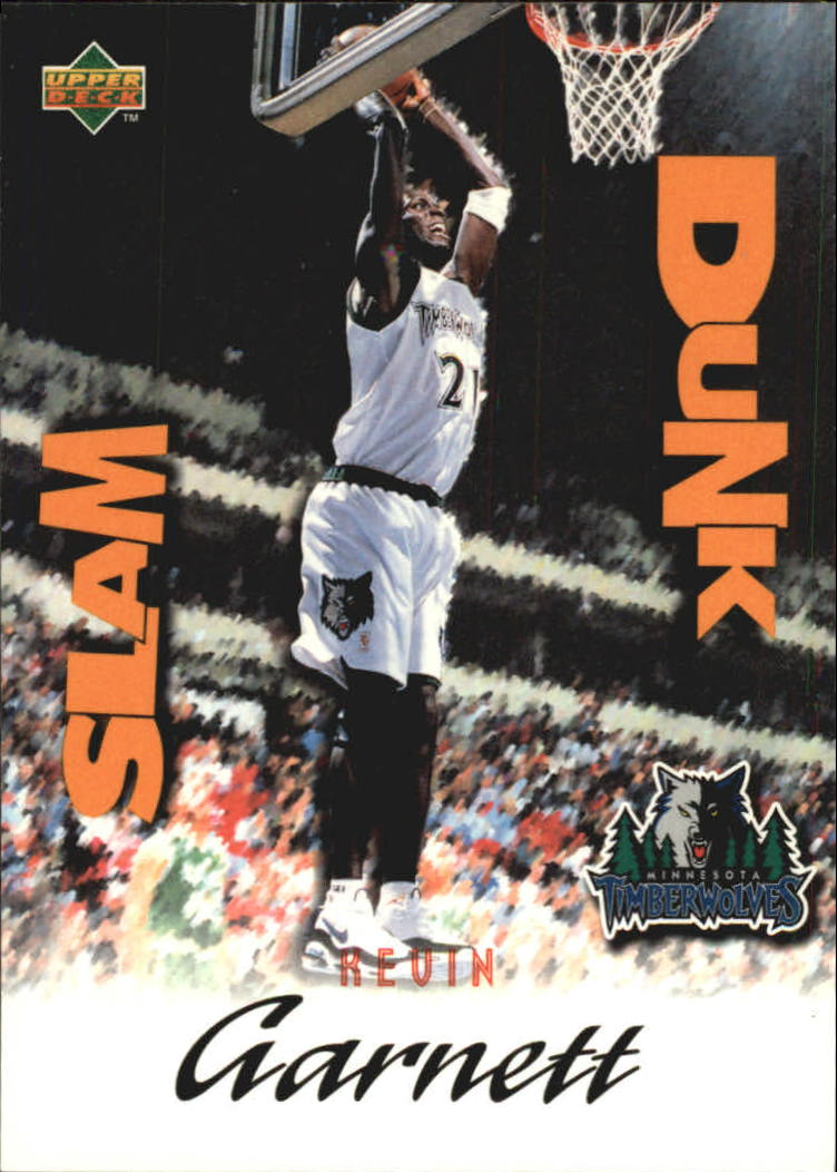 1997 Upper Deck Nestle Slam Dunk #9 Kevin Garnett