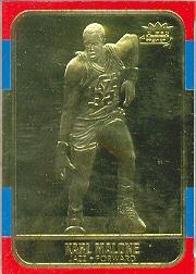 1997 Bleachers/Fleer Gold #8 Karl Malone 1986-87